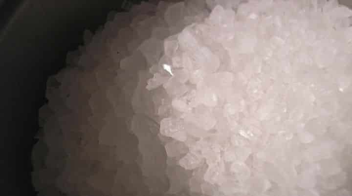 rock salt, used for paleo radish chips, one of the paleo diet recipes you will want to commit to memory