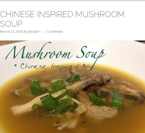 Chinese Inspired Mushroom Soup from Allergy Free Foodie – Quick and Easy, Chinese, 5 Ingredients or Less