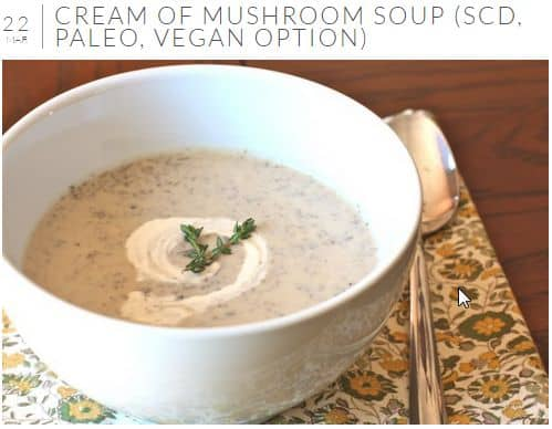 Cream of Mushroom Soup from Against All Grain - Vegetarian, SCD and Paleo Friendly, Creamy, Coconut Free