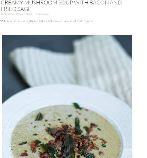[Mushroom Soup with Bacon and Fried Sage from Autoimmune Paleo] - AIP, Bacon Infused, Bone Broth