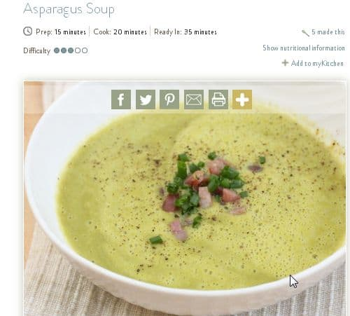 Asparagus Soup from Primal Palate – Creamy, Light, Prosciutto, Chicken Broth