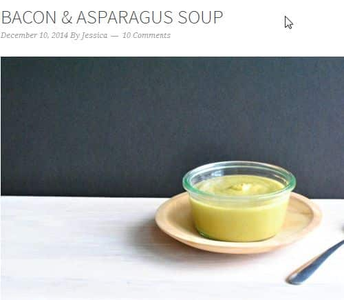 Bacon & Asparagus Soup from AIP Lifestyle – Creamy, Less than 5 Ingredients, Bacon, Bone Broth, AIP