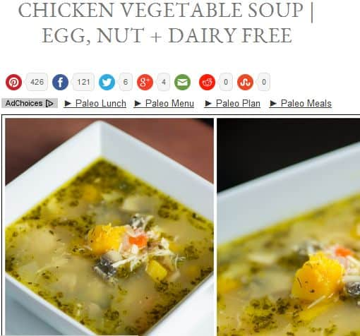 Chicken Vegetable Soup from Paleo on a Budget – Chicken Broth, Non Dairy, Egg Free, Nut Free