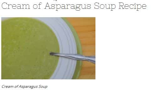 Cream of Asparagus Soup Recipe from Mind Body Oasis – Paleo Vegan Option (use vegetable broth), Dairy Free, Chicken Broth