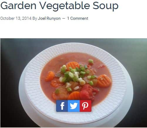 Garden Vegetable Soup from the Ultimate Paleo Guide – Spicy, Chicken Broth, Tomato based