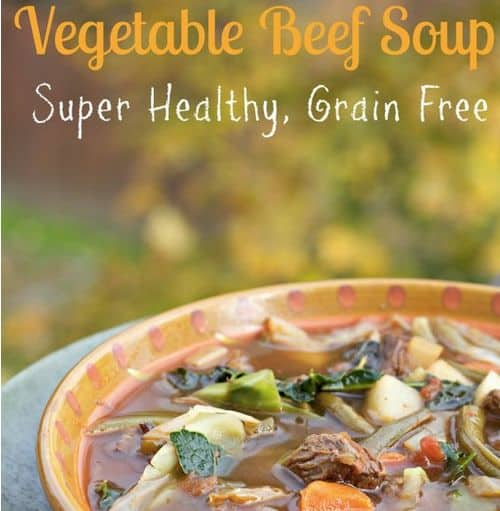 Homemade Vegetable Beef Soup from Spinach Tiger – Paleo Vegetable Beef Soup, Bone Broth, Tomato Based