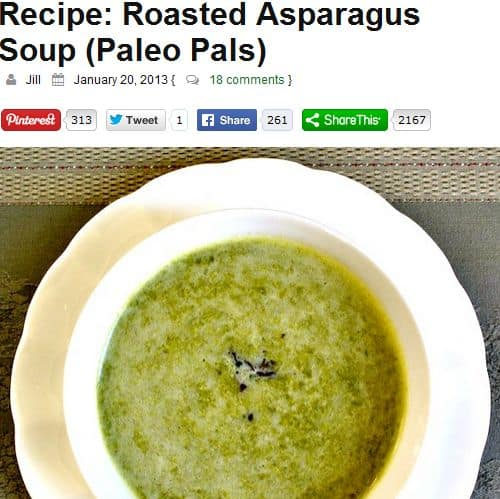 Roasted Asparagus Soup from Real Food Forager – Paleo Roasted Asparagus Soup, Chicken Broth