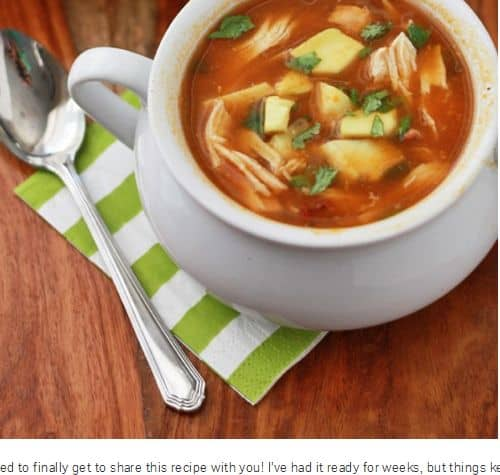 Slow Cooker Pumpkin Taco Soup from One Lovely Life - Slow Cooker, Paleo, Chicken, Chicken Bone Broth Option