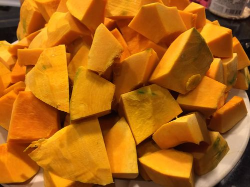 Japanese Pumpkin, cubed - This is a great Paleo Kabocha recipe option, if you are looking for recipes for Japanese Pumpkin, look no further than this Paleo pumpkin curry