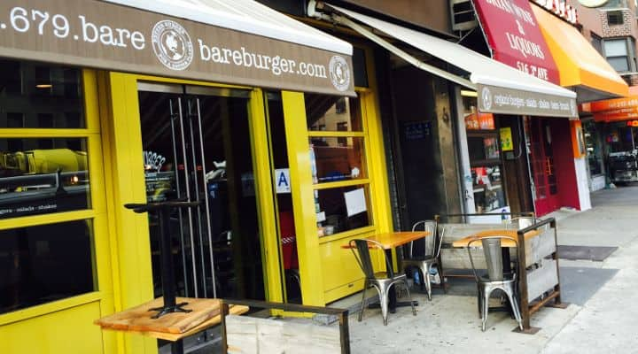 Photo of Bareburger in NYC taken Dec 2015, one of the places to eat out covered in this paleo restuarants nyc guide. In this guide we cover a bunch of great paleo nyc gluten free, grain free, dairy free restaurants and food options, as well as some new york city paleo vegan and grass fed, pastured nyc meat and even bone broth eateries. If you are looking for a strict paleo restaurant nyc option, or even just some loosely paleo food nyc options, this guide has you covered with paleo restaurant reviews, paleo menu items to order at each restaurant and even which paleo nyc restaurants offer fast food for on the go paleo meals on the way to work or the office.
