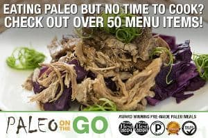 Screenshot of the Paleo on the Go website - Paleo on the Go is a chef delivery service that many consider to offer some of the best Paleo frozen meals on the market. Paleo on the Go is particularly popular with those following the Autoimmune Paleo Diet. The Paleo Diet frozen meals offered by Paleo on the Go are prepared in a gluten free facility and made from ingredients from farmers and distributors they have direct relationships with.