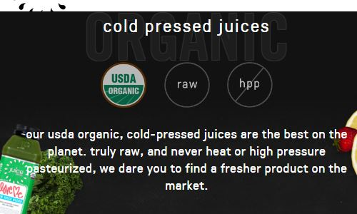 Screenshot of the juicepress website - Juicepress is a fresh juice chain with many locations throuhout NYC. As long as you stick to their fresh pressed fruit and vegetable juices (you may want to restearch their vegan probiotic, similar to yogurt contained in their vegetable juices if you have any conscerns with specific probiotic strains - their is supposedly similar to yogurt). Given that they have locations all throughout the city, juicepress gives you the option of having paleo nyc juice options near you at all times.