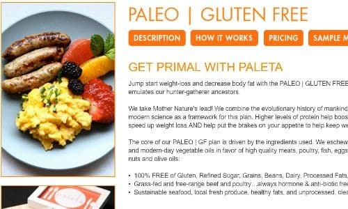 Paleta is a popular meal delivery services with celebrities and those on strict meal plans in the Los Angeles area. Their fresh meal delivery Los Angeles plans now include a Paleo Gluten Free plan, combining the experience and fine dining of Paleta with the health benefits of going Paleo