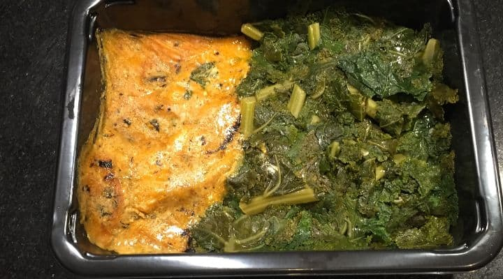 A review of modPALEO's Grilled Butternut Squash Satay with Kale from their modVEG line of Paleo Vegetarian meals. Their Pegan/Paleo Vegan Meal Delivery Nationwide options have been expanding, which is good news for those trying to go gluten free and eat local organic produce that is in season while keeping Paleo and avoiding meat products.