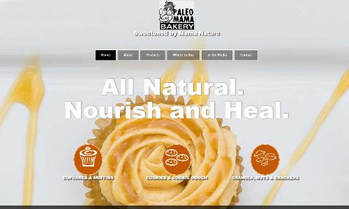 The Paleo Mama bakery, screenshot pictured, as a Madison WI bakery specializing in the Paleo and SCD diets. The owner and scd chef , having followed the SCD diet for Ulcerative Colitis is well versed in baked goods to heal UC. She offers both items for the IBD community as well as the larger Paleo community in Wisconsin.