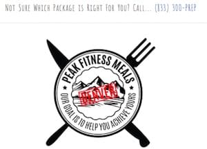 Peak Fitness Paleo and Keto Delivery servicing Colorado Springs - screenshot of home page/logo