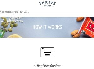 screenshot of the Thrive Market website - They offer a wide selection of Paleo foods to buy in their dedicated Paleo section or paleoshop