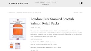 These organic smoked salmon products from  H. Forman & Son  and others should help end the search for healthy possibilities.  We explore the mail order smoked salmon options offered by  H. Forman & Son  and others. There are an increasing number of norwegian smoked salmon options available.