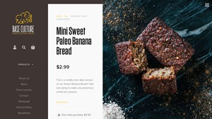 They offer some viable Paleo Banana Bread Brands products.  Base Culture  offers almond flour banana bread options,   Base Culture  tends to offer at least one coconut flour banana bread option.