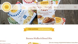 Screenshot of the Simple Mills homepage - With their paleo almond banana bread products, Simple Mills is a good candidate for your short list. For those seeking almond meal banana bread products, we have you covered. Finding paleo banana bread almond meal products used to be a challenge, but its become easier.