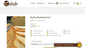 Screenshot of the Deeks Health Foods homepage - With many bread without grains choices available from companies like Deeks Health Foods. Living this lifestyle, it's helpful to know about companies like Deeks Health Foods which offer grain free bread mix offerings. Living this lifestyle, it's helpful to know about companies like Deeks Health Foods which offer no grain flour offerings.