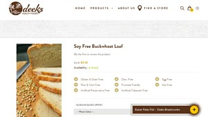 Screenshot of the Deeks Health Foods homepage - Our list of the Tapioca Bread Paleo Brands options on the market. Your tapioca flour where to buy options have expanded. Deeks Health Foods makes it relatively easy. Need more tapioca dinner rolls options in your life? In this article we cover a number from Deeks Health Foods and others.