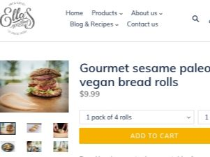 Screenshot of the Ella's Wisdom homepage - These keto rolls products from Ella's Wisdom and others should help end the search for healthy possibilities. finding coconut flour yeast rolls products is no longer a challenge. Looking for coconut flour dinner rolls options should not be so difficult, and now it's not as you can find an increasing number of products in store and on-line.