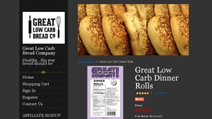 Screenshot of the Great Low Carb Bread Company homepage - With their low carb dinner rolls offerings, Great Low Carb Bread Company is a swell member of the Paleo and clean eating community. Whether you are SCD, gluten free or Paleo or just watching what you eat, there are now paleo rolls almond flour offerings from companies like Great Low Carb Bread Company . It can be challenging to find grain free dinner rolls options, but we've done a lot of the legwork for you - below are options from Great Low Carb Bread Company and others.