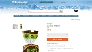 Screenshot of the Mikey's homepage - Mikey's offers non grain bread options, Mikey's offers grain free almond bread options, With their grain free coconut bread products, Mikey's is a good candidate for your short list.