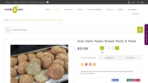 Screenshot of the Naturally Organic homepage - They offer some viable Coconut Flour Rolls products. With several paleo rolls coconut flour options, Naturally Organic is a great company to know about. We researched coconut bread rolls and this article covers everything we found (like options from Naturally Organic.