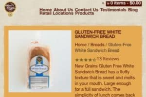 Screenshot of the New Grains Gluten Free Bakery homepage - Would you love to find gluten free nut free bread options from great brands like New Grains Gluten Free Bakery? Read on for all of our research. Do you wish you could find more nut free bread crumbs options that you know of currently? Keep reading for a whole list from great companies like New Grains Gluten Free Bakery. Although dairy free nut free cookies options can be hard to find, we attempt to provide some options from companies like New Grains Gluten Free Bakery.