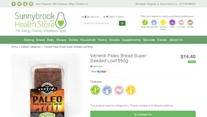 Screenshot of the Venerdi homepage - We have laid out some of their offerings that might qualify as where to buy grain free bread options. They are a good company to look into when looking for grain free bread options. Although low carb grain free bread options can look different than your standard standard American (wheat/sugar/preservatives based) version, products from Venerdi can also be wonderfully flavorful and delicious.