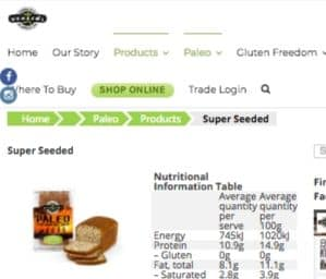 Screenshot of the Julian Bakery homepage - If you are in the market for tapioca bread products, Julian Bakery is worth checking out. Julian Bakery specializes in wholesome foods like tapioca flour keto options. Your tapioca flour banana bread options have expanded. Julian Bakery makes it relatively easy.