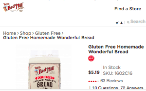 Screenshot of the Bob's Red Mill Natural Foods homepage - finding Gluten Free Dairy Free Bread Mix Brands products is no longer a challenge. Whatever your dietary preferences, it's great to know about gluten free pancake mix brands. Although best gluten free bread mix options can be hard to find, we attempt to provide some options from companies like Bob's Red Mill Natural Foods.