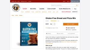 Screenshot of the King Arthur Flour homepage - King Arthur Flour offers gluten free cake mix options, Whether you are SCD, gluten free or Paleo or just watching what you eat, there are now gluten free muffin mix offerings from companies like King Arthur Flour . Living this lifestyle, it's helpful to know about companies like King Arthur Flour which offer gluten free pizza dough mix offerings.
