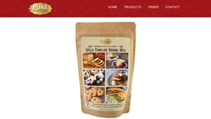 Screenshot of the Pure Traditions homepage - With their Paleo Baking Mix Brands offerings, Pure Traditions is a swell member of the Paleo and clean eating community. Pure Traditions tends to offer at least one grain free flour mix option. In this article, we cover products that provide free from bread mix options from companies like Pure Traditions.