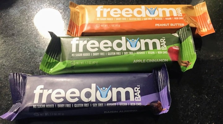 Photo of several varieties of Freedom Bar. Larabar organic options are kind of slim, with just their superfood bars that aren't really great for a grain free, refined sugar free diet. If you want alternatives to searching for lara bars whole 30 compliant options and paleo lara bars, several of the Freedom Bars (all but peanut butter) may work for you. For those with Crohns and UC (like the founder of the company) this gives you another product to try out to compare with larabar scd diet friendly flavors.