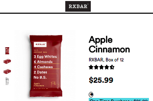 Screenshot of the Rxbar homepage - RX Bars - Paleo Compliant brands, including those from Rxbar. rxbar amazon options can be few and far between; read on for examples from Rxbar and other firms. We cover many paleo friendly bars options to give insight into your buying decision.
