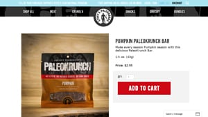 Screenshot of the Steve's Paleogoods homepage - With their Paleo Approved Bars/Paleo Compliant Bars offerings, Steve's Paleogoods is a swell member of the Paleo and clean eating community. Our list of the paleo bars amazon options on the market. We cover many where do you buy paleo bars options to give insight into your buying decision.